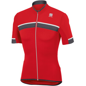 Sportful Pista SS Jersey Men, red/anthracite/white